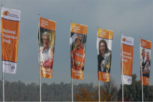National Volunteer Week Flags